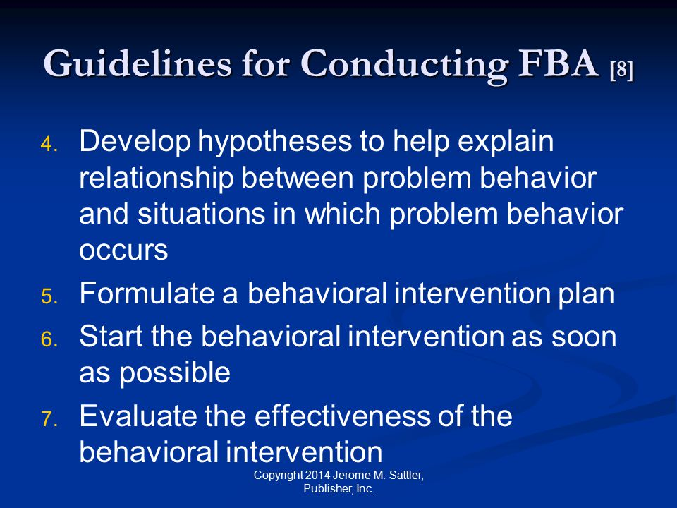 Guidelines for Conducting FBA [8]